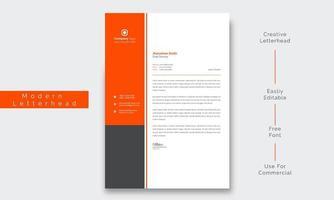 papel timbrado empresarial criativo e limpo vetor