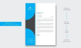 papel timbrado empresarial moderno, limpo e criativo vetor