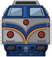 Design de trem cinza em fundo branco vetor