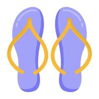 chinelos e calçados vetor