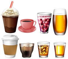 Bebidas de café e coquetel vetor
