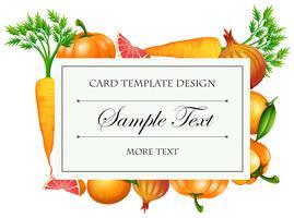 Design de modelo de cartão com legumes vetor
