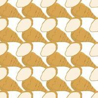 ilustração sobre o tema de alcachofra de jerusalém brilhante padrão vetor