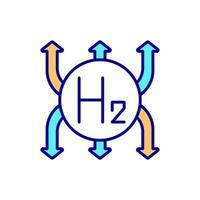 ícone de cor rgb de uso de hidrogênio vetor