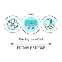 ícone do conceito de ar condicionado vetor