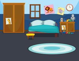 Um modelo de quarto de criança vetor