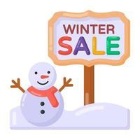 cupons de venda de inverno vetor