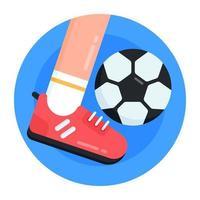 jogando e chutando futebol vetor