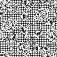 Teste padrão sem emenda da manta eclética da tela com ornamento barroco. vetor