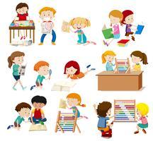 Grupo de atividade de estudantes vetor