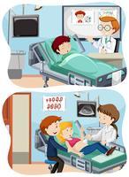 Um conjunto de cuidados médicos vetor