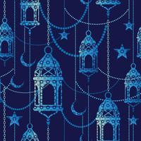 Fundo do Ramadã. Padrão sem emenda de vetor. vetor