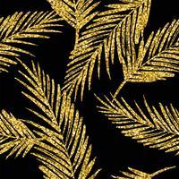 Sem costura padrão exótico com silhuetas de folha de palma.