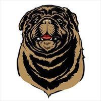 ilustração dos desenhos animados do cão pitbull vetor