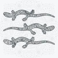 mandala de réptil. elementos decorativos vintage. ilustração vetorial. vetor
