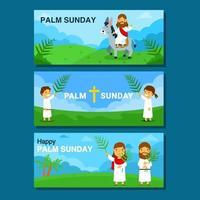 desenho de banner semana santa palma domingo vetor
