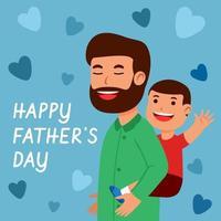 pai carregando filho nas costas vetor