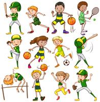 conjunto esportivo