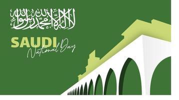 vetor de ilustração de fundo do dia da independência da Arábia Saudita