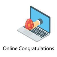 parabéns páscoa online vetor