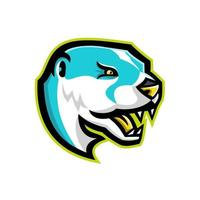 mascote da lontra do rio norte-americano retrô vetor