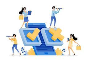 aplicativo móvel para pesquisa de pesquisa e tecnologia de votação eleitoral vetor