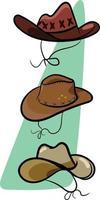 chapéus para cowboys do oeste selvagem vetor
