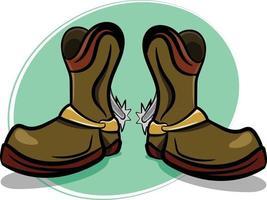 botas de cowboy elegantes com esporas vetor