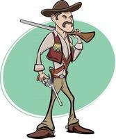 personagem de cowboy do oeste selvagem do texas vetor