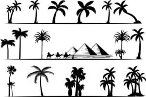 coleção de palmeiras vetor