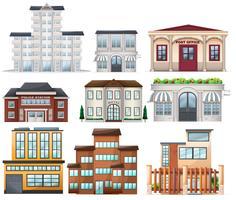 Grandes edifícios vetor