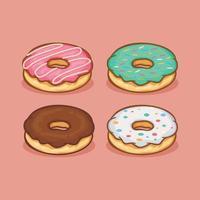 ilustração em vetor ícone donut isolado