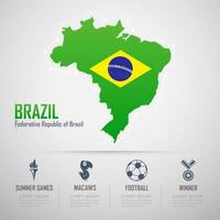 infográficos do brasil. bandeira do brasil. relações públicas brasil. vetor