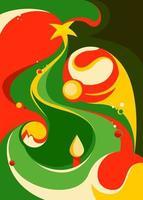 cartaz com árvore de Natal abstrata. vetor