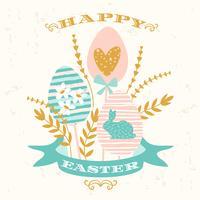 Feliz Páscoa. Desenho vetorial vetor