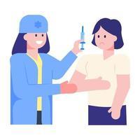 vacinação e injeção vetor