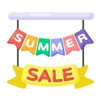 banner de venda de verão vetor