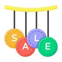 venda de compras e etiquetas vetor
