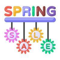 etiquetas de liquidação de primavera vetor