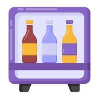 frigobar e refrigerador vetor