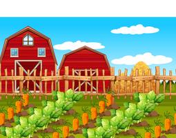 Uma paisagem rural fazenda vetor