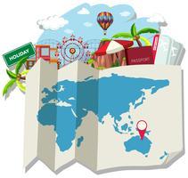 Mapa isolado e localização vetor