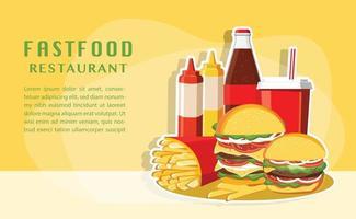 fast food, conjunto saboroso vetor de fast food isolado no fundo branco