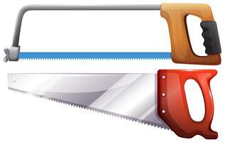 Conjunto de serras de hardware vetor