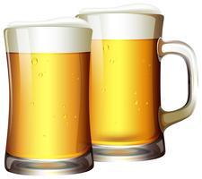 Um conjunto de cervejas na caneca vetor