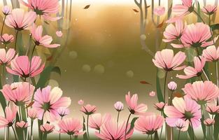 fundo de flores de outono vetor