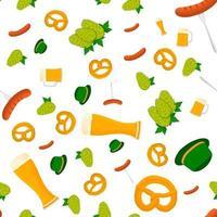ilustração no tema grande padrão colorido oktoberfest vetor