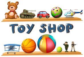 Uma loja de brinquedos vetor