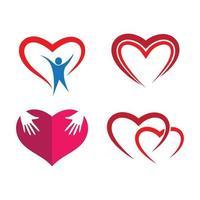 imagens de logotipo de amor vetor