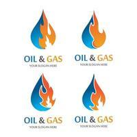 imagens do logotipo de petróleo e gás vetor